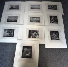10 prints - unsigned - Of the Life of Nelson - date unknown
