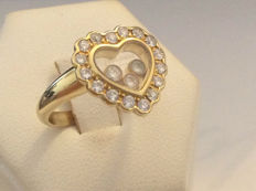 Chopard - 'Happy Diamond' 18 kt yellow gold ring with diamonds - Size 51/ 11