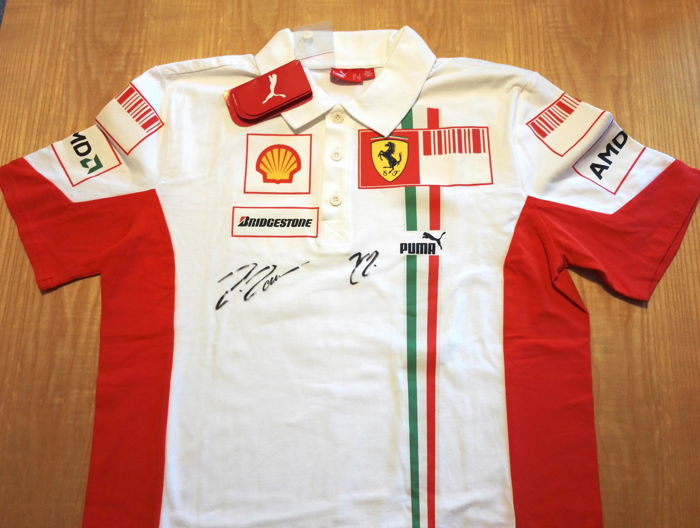 15f6a650eb7115 Polo from the Scuderia Ferrari 2007 - Hand signed by Kimi Raikkonen and  Felipe Massa