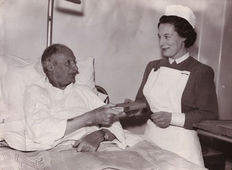 Unknown/International News Photos - 'Monty reads after his operation- 1957