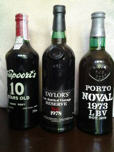 1973 Late Bottled Vintage Noval & 1978 Late Bottled Vintage Taylor's & 10 year old Tawny Port Niepoort's - bottled in 1990 - 3 bottles total