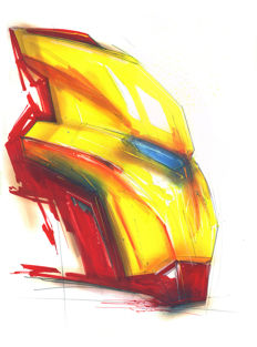 Original Acrylic Painting - Iron Man By Urban Street Artist ANTISTATIK