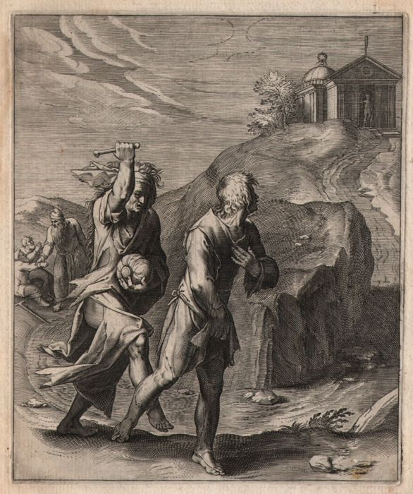 Otto van Veen ( 1556 - 1629) - Paupertatis incommoda - Scene from Horace - In the early edition of 1607