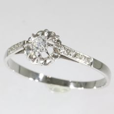 French solitair engagement ring, anno 1920
