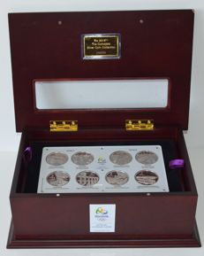 "Brazil – 5 real, 2014-2016, ""Rio 2016 Olympic Games"" (set of sixteen coins) – silver"