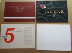 Jaguar - lot de 4 brochures XL140, Mark XII, MARK X, 3.4 et 3.8 S