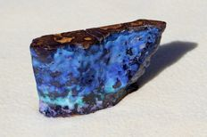 Polished rough boulder opal or natural matrix opal  - 11 x 6.5 x 3.4 cm - 333 gm