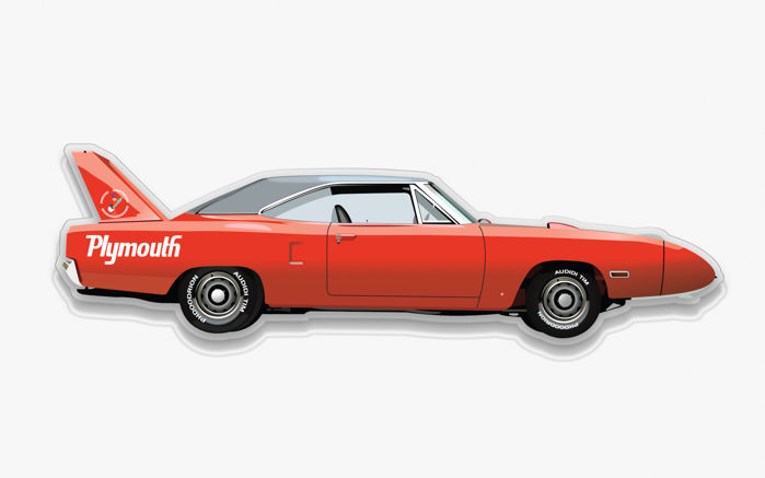 Halmo Collection Plymouth Superbird plexiglass model