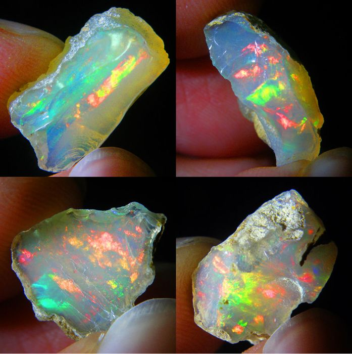 Lot of colour play effect Welo Opals Ethiopia - 16.12 ct (4)