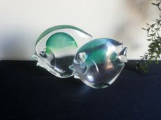 Cenedese - Pair of glass fishes signed