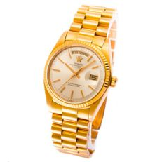 Rolex day date president pink gold -mens women