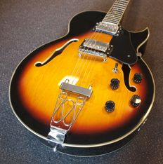 New ChS Hollow body (ES-175 model) in Vintage Sunburst, for Rockabilly, Jazz, Blues, Rock, etc.