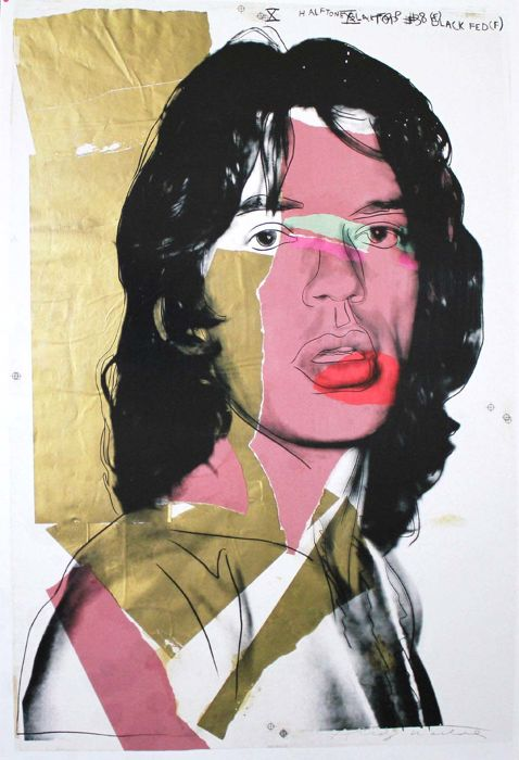 Mick Jagger after Andy Warhol