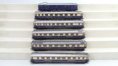 Liliput H0 - 820 - Set with 6 Rheingold carriages of the DRG