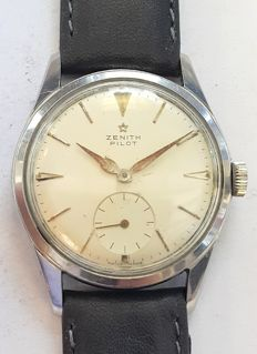 Vintage wrist watch Zenith Pilot - Switserland around 1959