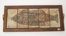 Roger Capron, mosaic fish plate for Vallauris