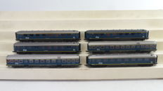 """Roco H0 - 4218A/4218B/4232B - 4 carriages type """"Plan D"""" and 2 """"Plan W"""" of the NS"""