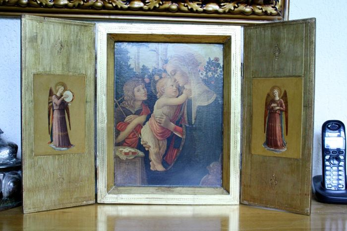 Wooden triptych - Late 19th century - France