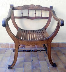 Antique beechwood armchair - period mid-1900 - French