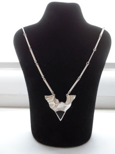 Lapponia – Silver Necklace with Pendant – Solid Silver 925 / 1000, Length: 45 cm, Weight: 18.6 g