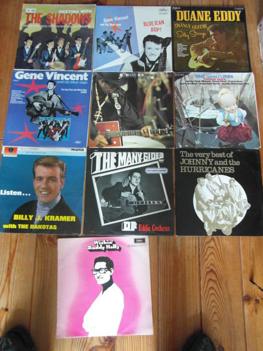 10 Rock,n Roll Albums, 11 Records