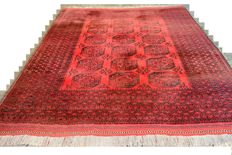 High-quality hand-knotted oriental carpet, Afghanistan - elephant's foot - 387 x 310 cm. End of the 20th century