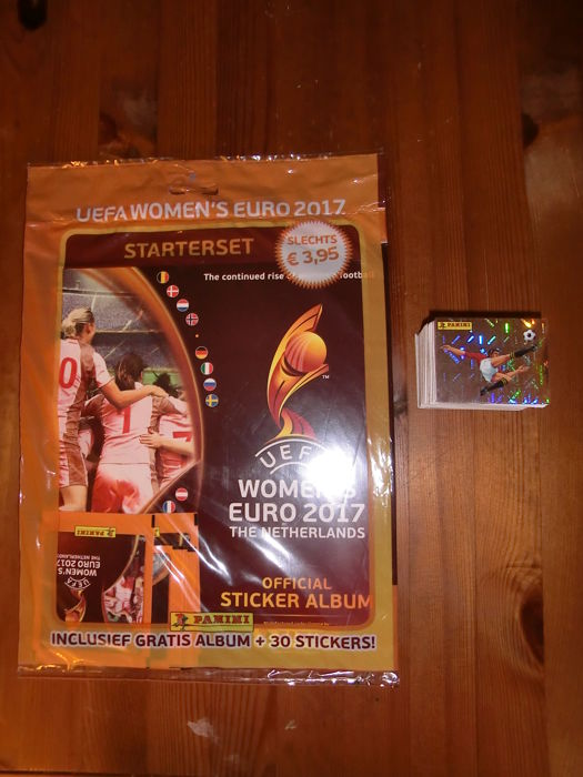 Panini Uefa women's euro-2017 The Netherlands - Empty album with 6 packs in seal + all 334 corresponding stickers.