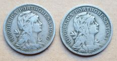 Portuguese Republic – Lot of 2 coins – 50 Centavos 1930 and 1931