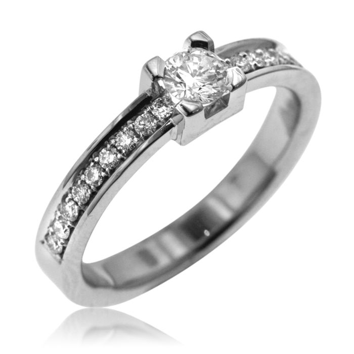 0.50 ct Diamond Solitair -  Ring size: 54-17-N 1/2 (UK)