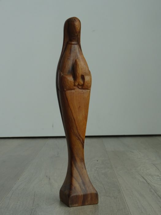 Wooden statue of Mary