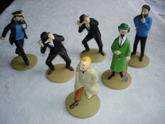 Hergé - 6x Kuifje beeldjes Moulinsart - Figurines Tintin: La Collection Offiecielle - (2011)