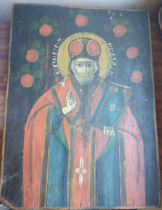 Russian icon (late 19th) - The St. Nicholas (46 x 34 cm)