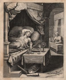 Otto Vaenius ( 1556 - 1629) - Summit your appetite to the laws of abstinence - Horace - Early edition of 1607