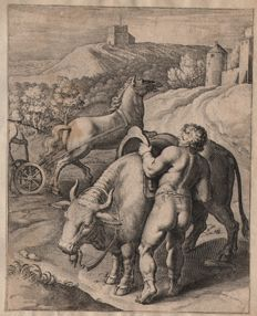 Otto van Veen ( 1556 - 1629) - about land life -  from Q. Horatii Flacci  - From the early edition of 1607