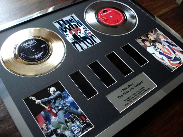 "The Who : Gold Platinum Plated Disc Record Film Cell Montage Award ""The Kids Are Alright"""