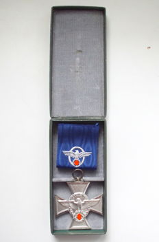 Third Reich Police service award for 18 years