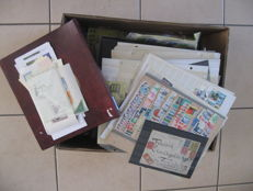 World - Large loose collection of stamps including China, the Commonwealth, the Netherlands and Belgium.