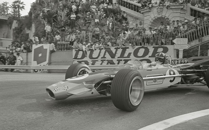 Graham Hill Team lotus 1968  Monaco grand prix Winner  Photograph. 54cm x44 cm.
