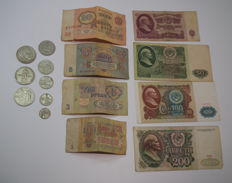 Russia/USSR - Various Coins and Banknotes
