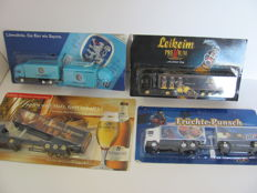 Various - Scale 1/87 - Lot with 90 Models: Brewery trucks, advertising trucks, 1995-2005, Germany