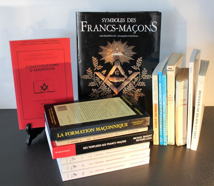 Freemasonry - Lot of 15 books - 1961/2005