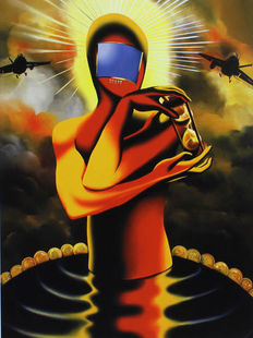 Mark Kostabi - Desire and the faith of pool