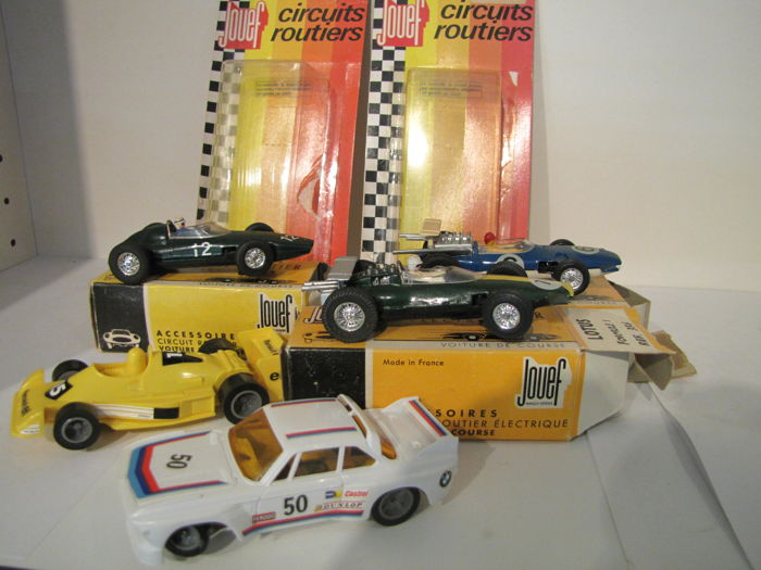 Jouef - Length 9.5-11 cm - Slotcars F1 Lotus/Matra 650/BRM/ Renault/ Rally BMW 3.0 CSL