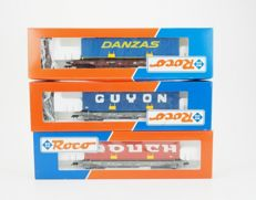 Roco H0 - 46368/46373/46374 - Three different container wagons