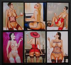 Post cards; Lot with 6 Collectable art cards by Alek Sander-2010