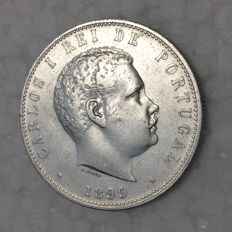 Portugal – D. Carlos I – 1,000 Réis – 1899 – Silver – Hard to find in UNC condition