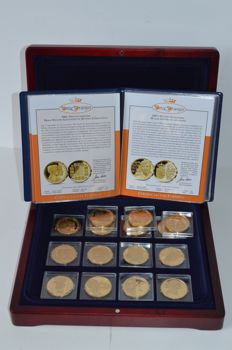 "The Netherlands - medals 2001/2010 ""Our Oranjes"" (15 different ones), in cassette"