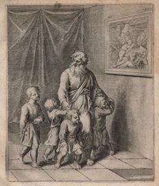 Otto van Veen ( 1556 - 1629) - The love of a father for his children - Horace - Early edition of 1607
