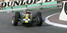 Jim Clark Team Lotus 1966 Monaco grand prix Colour Photograph. 54cm x44 cm.