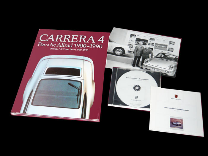 """Porsche Carrera 4 - Porsche All-Wheel drive 1900-1990. A numbered (148) exclusive copy handed over by Dr. ing.h. c. F. (Ferry) Porsche himself."